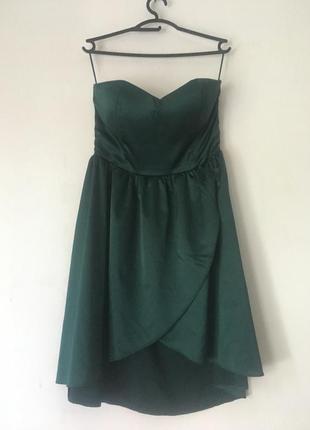 Изумрудное платье amisu