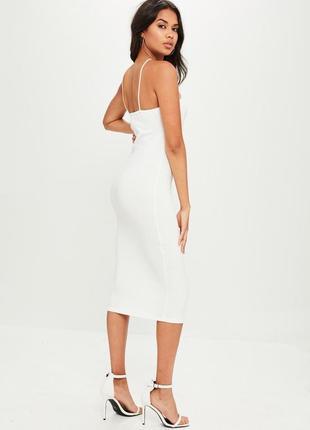 Лаконичное белое платье миди  missguided