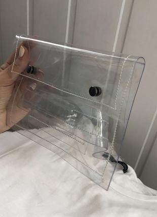 Талиевая или поясная прозрачная сумка