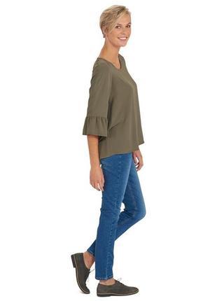 Фирменная блузка с расклешенными рукавами 3/4 свободного кроя от miller&monroe