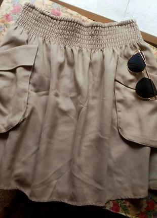 Летняя песочная юбка-солнце