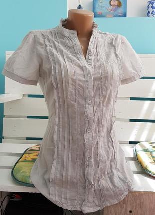 Летняя рубашка 100% хлопок/ блуза/ блузка/ футболка