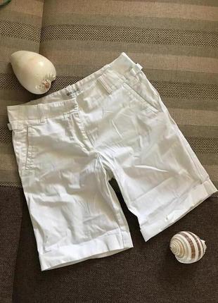 Белоснежные летние плотные шорты, бриджи, хлопок с эластаном
