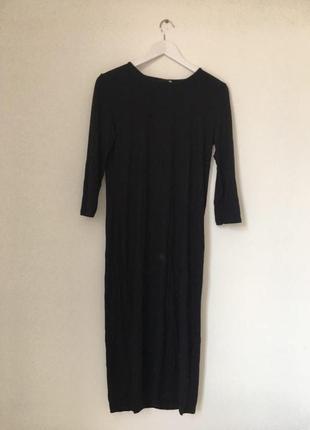 Платье h&m базовое черное
