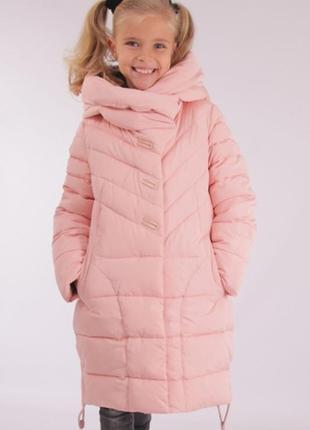 Зимняя удлиненная\ курточка для девочки тинсулейт anernuo