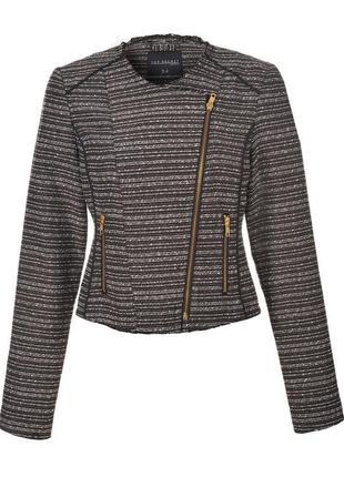 Серый фактурный жакет top secret. женский пиджак