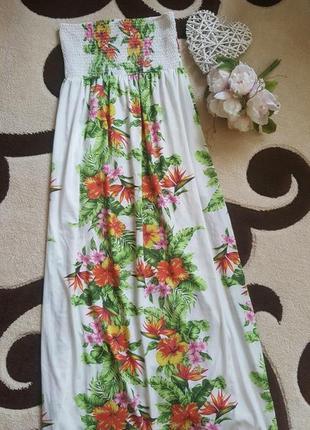 Летний яркий платье сарафан из полиестера