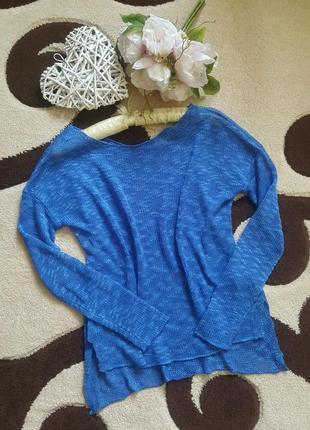 Летний легкий свитер кофта с удлиненной спинкой