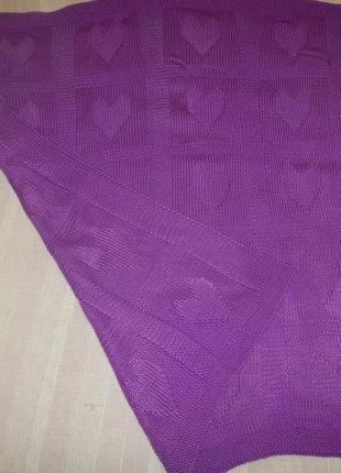 Плед ручной работы р.78см х 88см одеяло покрывало