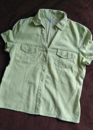 Льняная рубашка блуза