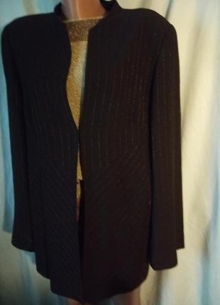 Нарядный пиджак итальянский трапеция разделенный с люрексом