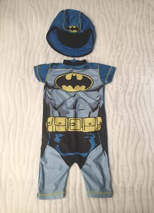 Купальный костюм batman на 1,5-2 года рост 92 см.1 фото