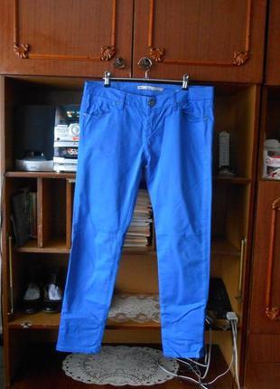Европ.40 р.zara woman брендовые синие штаны/скини