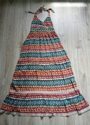 &шикарный яркий сарафан/платье в пол в этническом стиле, орнамент, бохо, р.42/xl