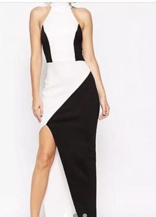 Asos черно-белое платье
