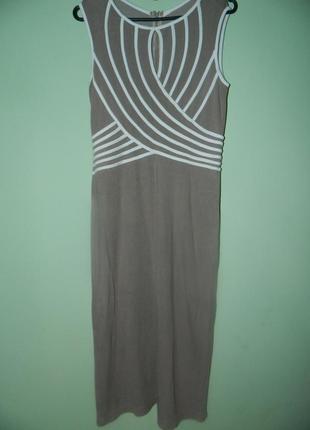 Платье трикотажное миди