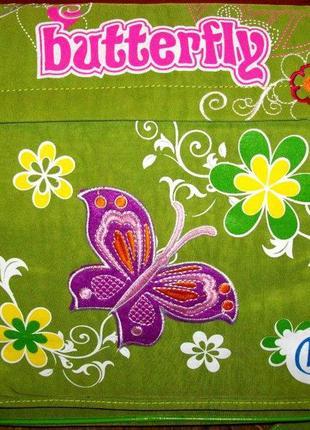 """Школьная сумка """"бабочки"""" зелёная"""