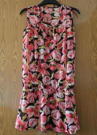 Нежная туника incity, пляжное платье, блуза в цветочный принт