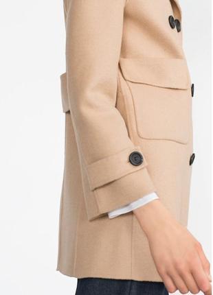 Пальто цвета camel zara