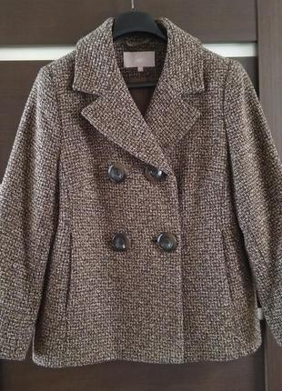Акция! модное короткое двубортное пальто