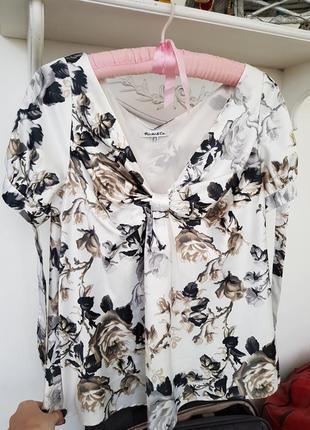 Атласная кофта блуза футболка от richi /co