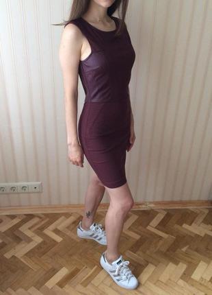 Короткое платье в обтяжку bershka