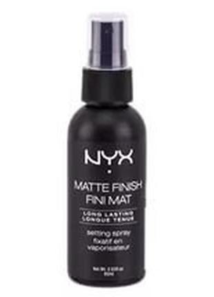 Спрей-фиксатор макияжа nyx makeup setting spray 01 матовый