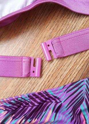 Фиолетовый купальник с пальмами3