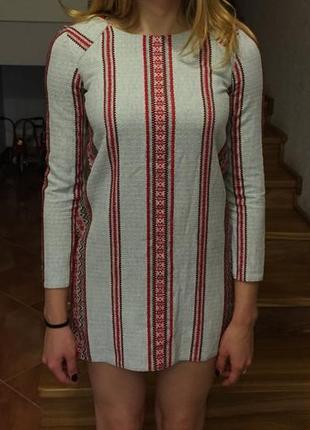 Плаття з тканини вишивки