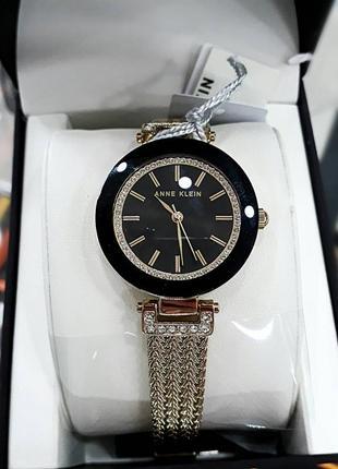 Оригинальные часы американского бренда anne klein с кристалами swarovski ak/1906bkgb