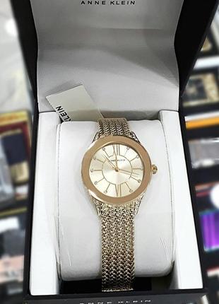 Оригинальные часы американского бренда anne klein с кристалами swarovski ak/2208chg