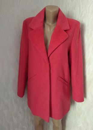 Atmosphere пальто демисезонное бойфренд оверсайз розового цвета xxs xs s 34 6 32 4 36