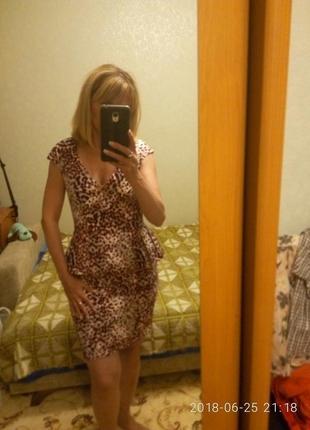 Платье с баской леопардовый принт и много других вещей на моей страничке