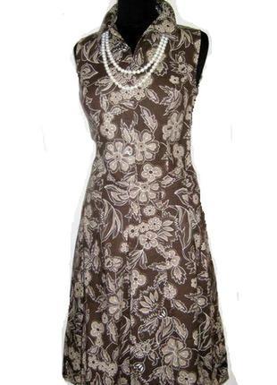 Летнее платье натуральное с заниженой талией р 38-40