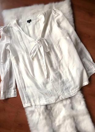 Легкая белая блуза футболка рубашка/хлопок (м/38)