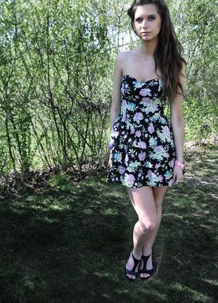 Цветочное платье сарафан h&m