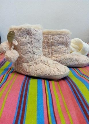 Мягкие теплые домашние сапожки