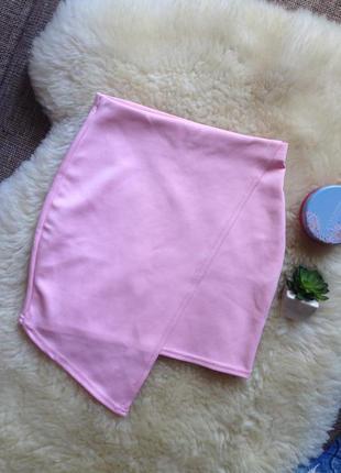 Пудренная ассиметричная юбка missguided р-р 6