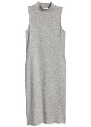 H&m платье в рубчик, s