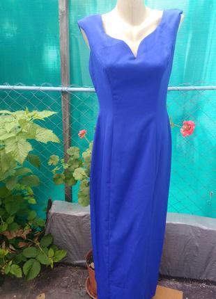 Вечернее индиго платье