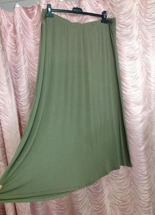 Легкая трикотажная юбка(вискоза)