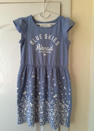 Платье на девочку, фирма h&m, 7-8 лет 122-128см