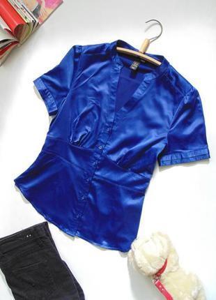 Синяя, красивая блузочка h&m