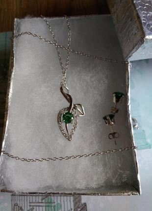 Комплект (гарнитур) серебряных украшений