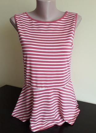 Майка,блуза полосатая с рюшей размер 46/48