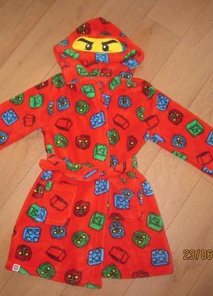 Клевый халатик с капюшоном ниндзя для ребенка 4-5 лет nutmeg