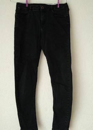 Черние джинсы скини zara