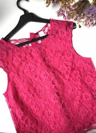 Малинова блуза h&m