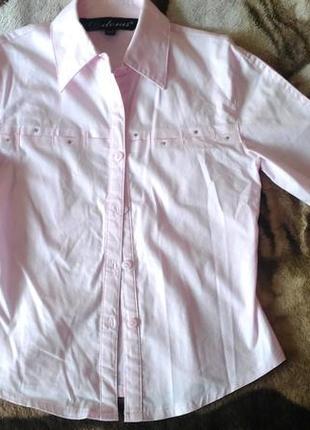 Бледно-розовая рубашка в школу,р. 122-128