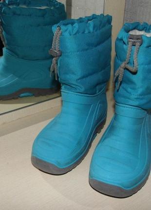 Сапоги зимние утепленные резиновые - 29 размер - стелька - 18.5 см.
